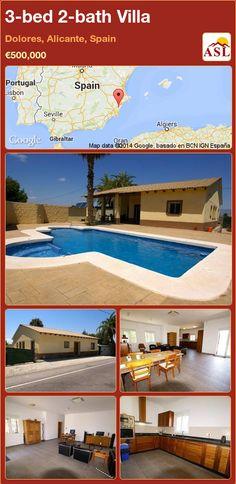 3-bed 2-bath Villa in Dolores, Alicante, Spain ►€500,000 #PropertyForSaleInSpain