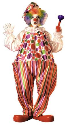 Harpo Hoop Clown CostumePolyester jumpsuit with large hoop waistband. Includes matching hat. One size fits most adults. Wig and shoes not included.Size: One Size Fits MostAge Group: Adult
