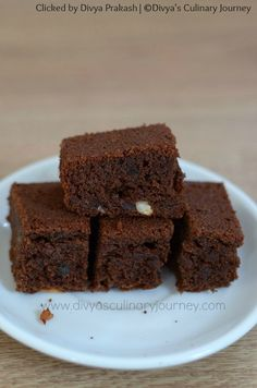 Egg less Chocolate Cake made with Ragi flour and Wheat flour. It is sweetened with Jaggery and Honey. A Healthy guilt free Cake. Eggless Desserts, Eggless Recipes, Eggless Baking, Healthy Cake Recipes, Healthy Baking, Baking Recipes, Ragi Recipes, Healthy Recepies, Yummy Recipes