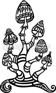 trippy coloring pages mushrooms nutrition - photo#2