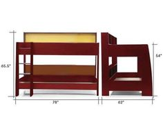 """Model Olivia-01  Contemporary design 2 tier bunk bed bed with storage at both levelsmade out of pre laminated engineered wood Upper mattress size 75"""" X 35"""" Lower mattress size 75"""" X 48"""" Pullout size 73"""" X 36"""" X 8"""" can be made add cost of Rs. 5000/- Price Rs. 33000/-  visit http://kidsfurnitureworld.in/bunk-beds.html"""