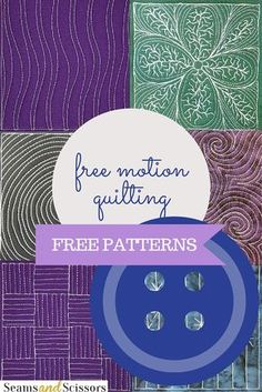 15 Free Motion Quilting Patterns