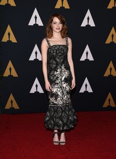 Emma Stone en robe Erdem de la collection printemps-été 2017