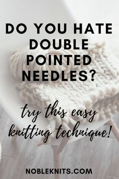 """The Alternative to using Double Points or the Magic Loop I am often asked, """"Can I use circular needles instead of double pointed needles?"""" Knitting a small number of stitches in-the-round can be chall Knitting Basics, Knitting Help, Knitting Blogs, Easy Knitting, Loom Knitting, Knitting Stitches, Knitting Patterns Free, Knitting Socks, Knitting Tutorials"""