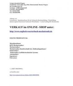 Technisches Franzoesisch zu uebersetzen? Franzoesisch-Englisch-Deutsch Woerterbuch der Mechatronik / Kfz-Elektronik erleichtert die Technische Dokumentation in 3 Sprachen