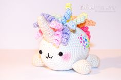 With this simple crochet pattern we will crochet a big unicorn. The big unicorn Giggli has a rainbow mane and is very cute. You can use your crocheted Crochet Mermaid, Crochet Unicorn, Easy Crochet Patterns, Free Crochet, Simple Crochet, Double Crochet, Crochet Stitches, Amigurumi Free, Crochet Horse