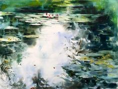 Новости Watercolor Artists, Watercolor And Ink, Watercolor Flowers, Watercolor Painting, Lily Pond, Illustrations And Posters, Water Lilies, Various Artists, Wall