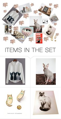 """""""Cats rule"""" by grashka ❤ liked on Polyvore featuring art, etsy, cat and etsyevolution"""