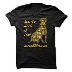 (Tshirt Charts) Golden Retriever at Tshirt United States Hoodies, Tee Shirts