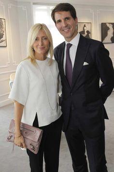 los príncipes Pablo y Marie Chantal de Grecia coinciden en la Casa Dior -
