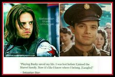 Sebastian Stan on joining Marvel AW! BABY!