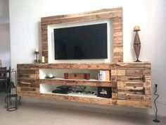 If you are looking for Diy Projects Pallet Tv Stand Plans Design Ideas, You come to the right place. Below are the Diy Projects Pallet Tv S. How To Build Pallet Furniture, Pallet Furniture Tv Stand, Pallet Tv Stands, Diy Furniture Couch, Furniture Ideas, Palette Furniture, Lawn Furniture, Rustic Furniture, Calgary