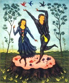 History of Art: Arik Brauer Rudolf Hausner, Moose Art, Wall Art, History, Painting, Animals, Inspiration, Artists, Dance