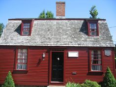 Very popular red exterior of a house in Newport RI.