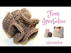 TUTORIAL: fiore iperbolico/ fiore zaino primule**lafatatuttofare** - YouTube Crochet Cactus, Freeform Crochet, Crochet Art, Irish Crochet, Crochet Flowers, Crochet Stitches, Free Crochet, Crochet Patterns, Fabric Flower Brooch