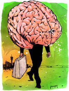Las Vegas, Fear And Loathing, Illustration, Brain, Painting, Art, The Brain, Craft Art, Last Vegas