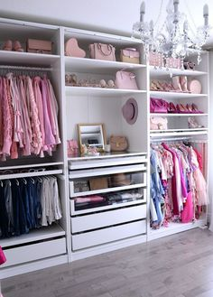 A round-up of the best closet makeovers using the IKEA Pax system with hacks to make it look custom and solutions for creating the most functional closet.
