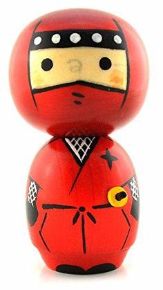 Japanese Kokeshi Doll ~ Red Ninja 4.75 Inch Kokeshi Dolls http://www.amazon.com/dp/B004WOYKC4/ref=cm_sw_r_pi_dp_AlSQub1NSKXT0