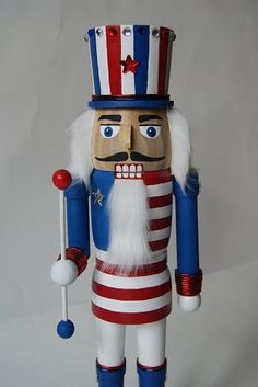 Made in USA Red White and Blue Nutcracker by monhoss135 on Etsy, $75.00