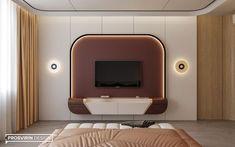 Tv Unit Furniture Design, Tv Unit Interior Design, Bedroom Furniture Design, Interior Concept, Hotel Room Design, Bedroom Closet Design, Tv In Bedroom, Lcd Wall Design, Living Tv
