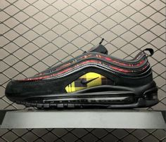 c15ba2a003c1 Nike Air Max 97 Tartan Black University Red Amarillo Nike Air Max