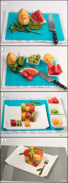 Food art, Fruits Salad Cube (wikihow.com)