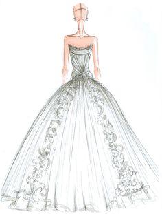Brides: Exclusive Spring 2015 Wedding Dress Sketches