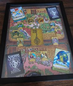 My Framed Sorcerers of the Magic Kingdom pin set. Disney Pins!