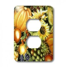 3dRose lsp_34873_6 Thanksgiving Harvest 2 Plug Outlet Cover  #Thanksgiving #Harvest #Light #Switch #Cover is made of durable scratch resistant metal that will not fade, chip or peel. Featuring a high gloss finish, along with matching screws makes this cover the perfect finishing touch.