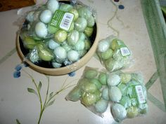 Artificial Bird Eggs 1 in. Speckled Blue/Green 12pc .each pkg. by classy10 on Etsy
