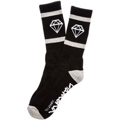 Diamond Supply Co. Socks The Rock Sport in Black (680 HRK) ❤ liked on Polyvore featuring activewear and sports activewear
