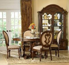 Elegant Dining Rooms | Round Formal Dining Room Sets | Home interior design