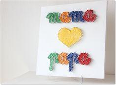 Mama & Papa String Wall Art. $60.00, via Etsy.