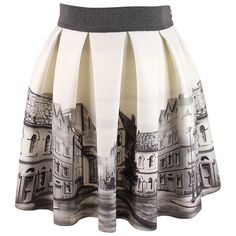 Monnalisa Monnalisa Grey & Cream Skirt - Monnalisa from Designer Childrenswear UK