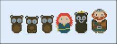 Brave (bears version) - Mini People - Pattern by CloudsFactory