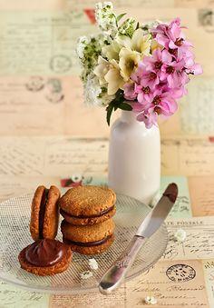 Oat Cookies with Coconut Milk Chocolate Ganache