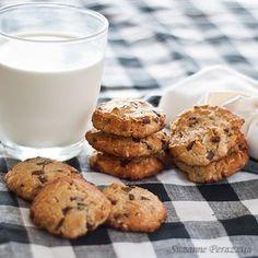 Almond, Coconut & Chocolate Chip Cookies #glutenfree #grainfree