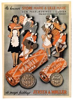 "I 1940 introducerer firmaet ""Jensen & Møller"" Store Marie og Lille Marie."
