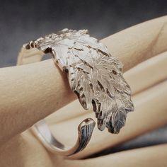 Maple Leaves Spoon Ring