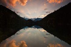 Piburger See im Abendrot   Ötztal/Tirol/Austria