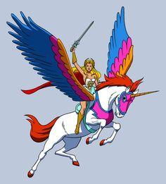 Les chevaux de fiction - Fougor - Fougor monté par She Ra