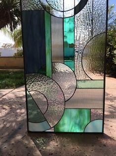 Stained Glass Door, Stained Glass Designs, Stained Glass Projects, Stained Glass Patterns, Leaded Glass, Mosaic Glass, Stained Glass Cabinets, Contemporary Stained Glass Panels, L'art Du Vitrail