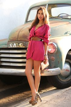 pink+leopard...I feel like I am pinning every one of her outfits lol VIVALUXURY