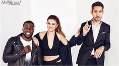 The Hollywood Reporter featuring Selena Gomez & Kevin Hart styled by: Christian Classen  Selena is wearing the silver double band ring & brass silver small single chain link hoop earrings