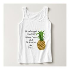 Be a Pineapple T-Shirt ($20) ❤ liked on Polyvore featuring tops, t-shirts, white tops, pineapple tee, tee-shirt, white t shirt and pineapple top