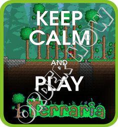#Terraria #keep #calm iron on DIY printable pdf by Aluminumguy, $5.00