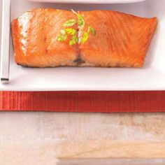 Glazed Salmon ... Very tasty! I use half the brown sugar and substitute crush pineapple for the pineapple juice