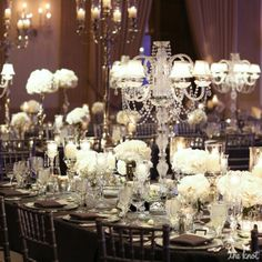 clean white tablescape