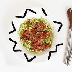 Tomato Basil Broccoli Noodle and White Bean Salad Recipe