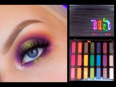 Urban Decay Full Spectrum Palette - Swatches & Makeup Look - YouTube